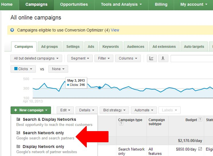 new-product-listing-ads-campaign-search-network-only